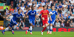 27.04.2014, Anfield, Liverpool, ENG, Premier League, FC Liverpool vs FC Chelsea, 36. Runde, im Bild Liverpool's Joe Allen in action against Chelsea // during the English Premier League 36th round match between Liverpool FC and Chelsea FC at Anfield in Liverpool, Great Britain on 2014/04/27. EXPA Pictures © 2014, PhotoCredit: EXPA/ Propagandaphoto/ David Rawcliffe<br /> <br /> *****ATTENTION - OUT of ENG, GBR*****