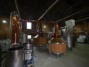 Entrance to the barn Pot stills at Lawrenny Distillery near Hamilton