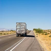 Truck in highway, California