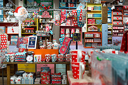 © Licensed to London News Pictures.05/12/2013. London, UK. Items sit on shelves during the opening of the new Cath Kidston store at 180 Piccadilly, London. The new store is the largest Cath Kidston store in the world and  has over 20,000 products, including new ranges and services.Photo credit : Peter Kollanyi/LNP
