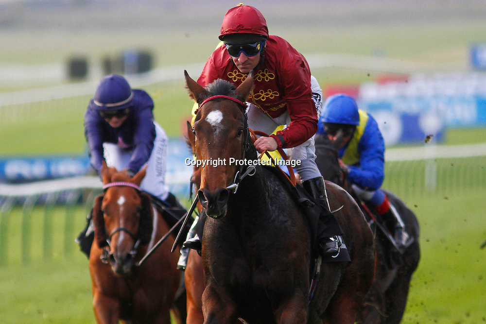 Just The Judge and M Hills winning the 4.05 race