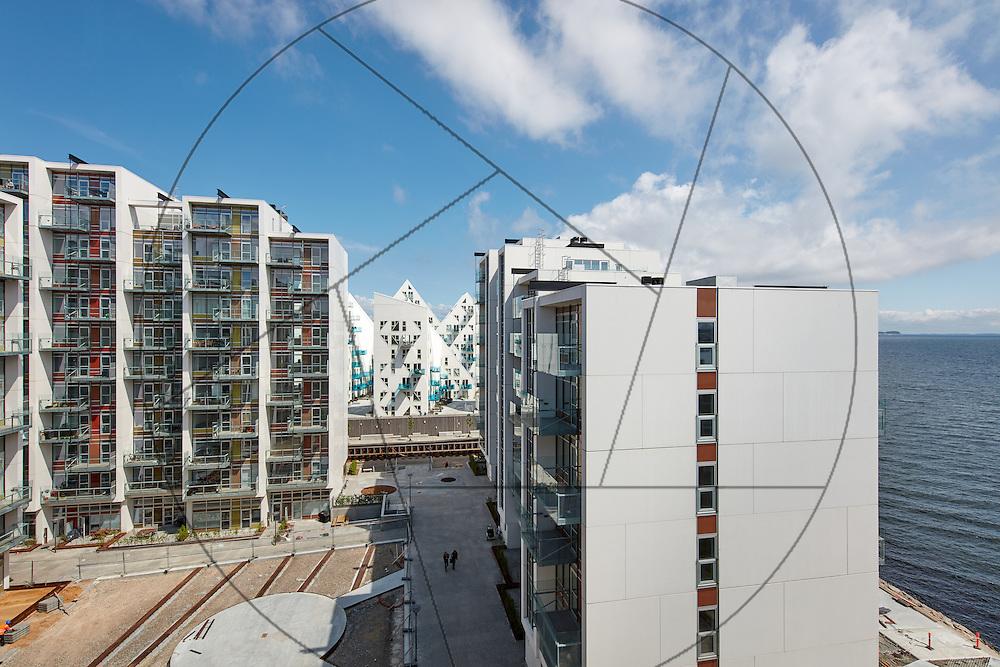 Havneholmen, Aarhus, bygning af nye lejligheder, NCC , eksteriør, facader, , altaner