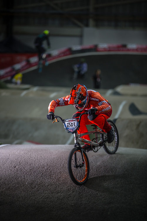 #241 (BENSINK Niels) NED at the 2016 UCI BMX Supercross World Cup in Manchester, United Kingdom<br /> <br /> A high res version of this image can be purchased for editorial, advertising and social media use on CraigDutton.com<br /> <br /> http://www.craigdutton.com/library/index.php?module=media&pId=100&category=gallery/cycling/bmx/SXWC_Manchester_2016