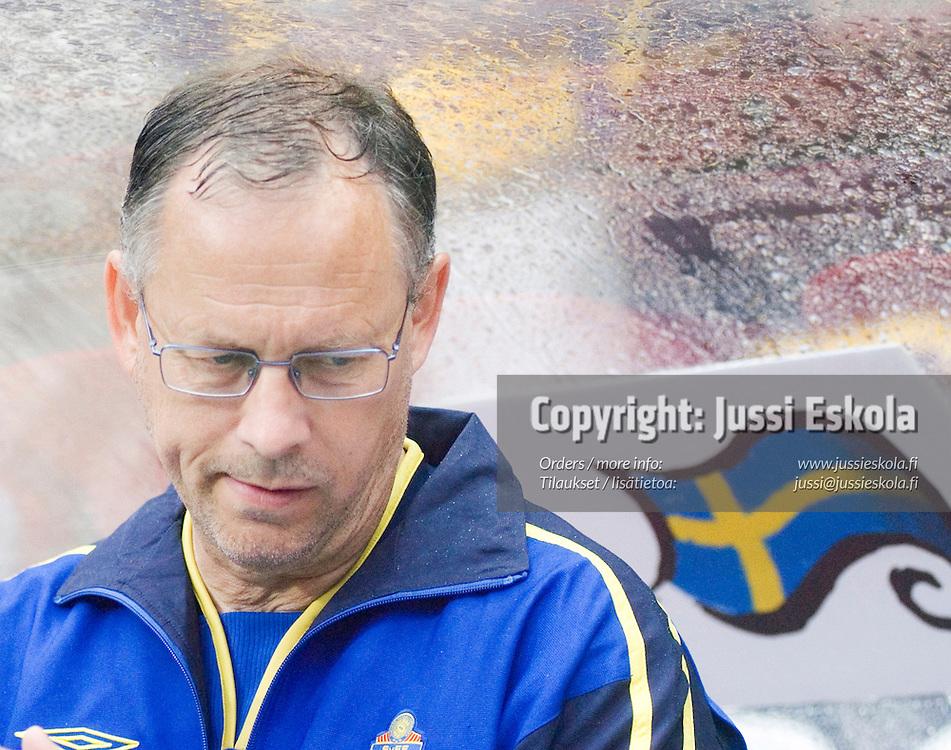 Sweden coach Lars Lagerb&auml;ck 22.6.2004.&amp;#xA;Euro 2004.&amp;#xA;Photo: Jussi Eskola<br />