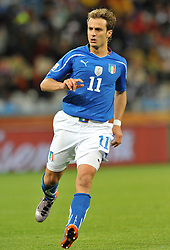 Football - soccer: FIFA World Cup South Africa 2010, Italy (ITA) - Paraguay (PRY), ALBERTO GILARDINO