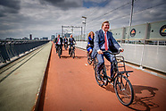 Koning Willem-Alexander opent dinsdagochtend 13 juni 2017 in Nijmegen de Global Cycling Summit: Velo