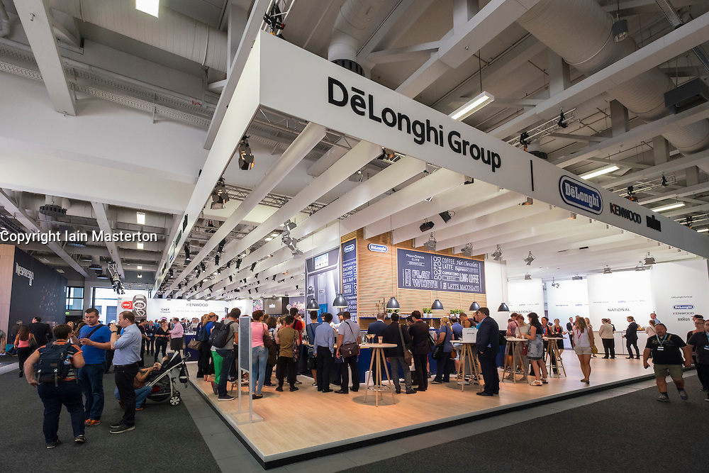 DeLonghi Group stand with cafe at 2016  IFA (Internationale Funkausstellung Berlin), Berlin, Germany