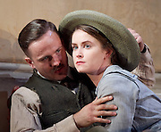 The Plough and the Stars <br /> directed by Howard davies and Jeremy Herrin <br /> at The Lyttelton Theatre, National Theatre, Southbank, London, Great Britain <br /> Press photocall<br /> 26th July 2016 <br /> <br /> <br /> Fionn Walton as Jack Clitheroe <br /> <br /> Judith Roddy as Nora Clitheroe <br /> <br /> <br /> <br /> Photograph by Elliott Franks <br /> Image licensed to Elliott Franks Photography Services