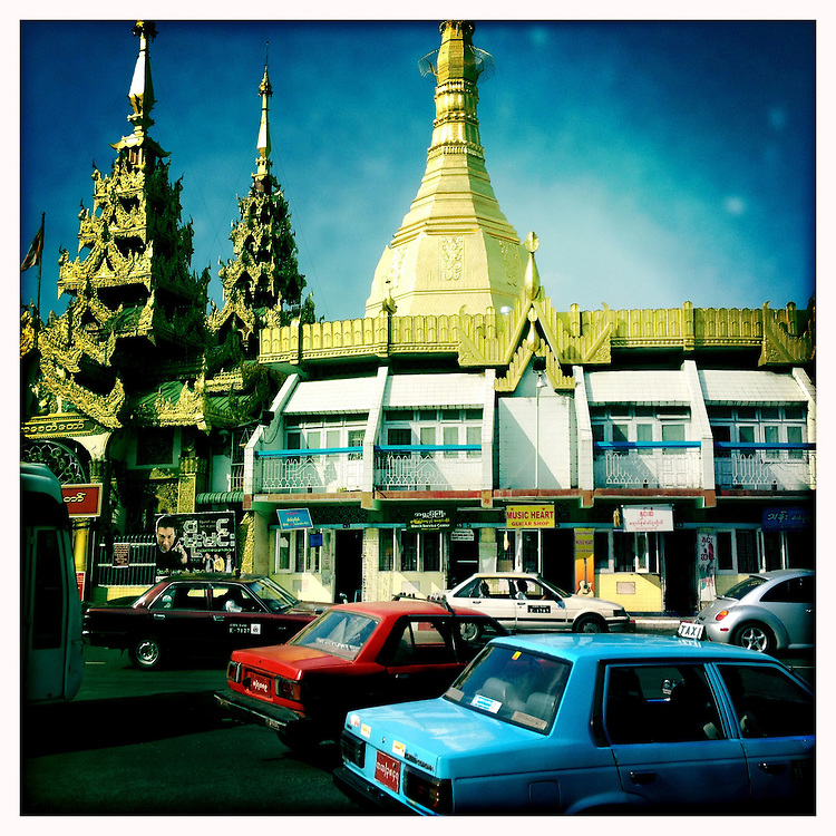 Sule Paya Temple - Yangon (Rangoon) Myanmar (Burma) January 2012