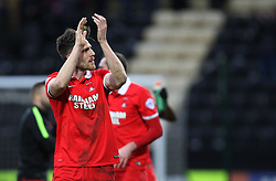 Shaun Brisley (L) celebrates at the final whistle - Mandatory byline: Jack Phillips/JMP - 20/02/2016 - FOOTBALL - Meadow Lane - Nottingham, England - Notts County v Leyton Orient - Sky Bet League 2