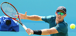 June 21, 2018 - London, United Kingdom - Jamie Murray  in action.during Fever-Tree Championships 2nd Round match between Jamie Murray  Bruno Soares (BRA) against Marcus Daniell  (NZL)AND Wesley Koolhof ( NED ) at The Queen's Club, London, on 21 June 2018  (Credit Image: © Kieran Galvin/NurPhoto via ZUMA Press)