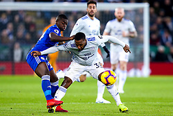 Junior Hoilett of Cardiff City takes on Nampalys Mendy of Leicester City - Mandatory by-line: Robbie Stephenson/JMP - 29/12/2018 - FOOTBALL - King Power Stadium - Leicester, England - Leicester City v Cardiff City - Premier League