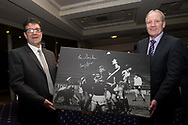 09/02/2017 - Cammy Fraser and Eric Sinclair at Dundee FC Hall of fame dinner at the Invercarse Hotel, Dundee  Picture by David Young -