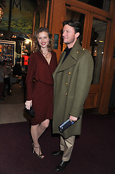 EVA HERZIGOVA and GREGORIO MARSIAJ attend the premier of 2012 Cirque du Soleil's Totem at the Royal Albert Hall, London on 5th January 2012,