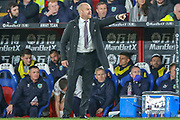 Burnley Manager Sean Dyche shouts to his players during the Premier League match between Crystal Palace and Burnley at Selhurst Park, London, England on 1 December 2018.
