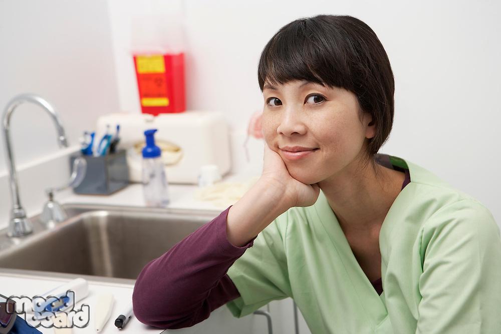 Female doctor in hospital,portrait