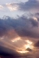 Godbeams Shining Through Storm Clouds, Glendora, California