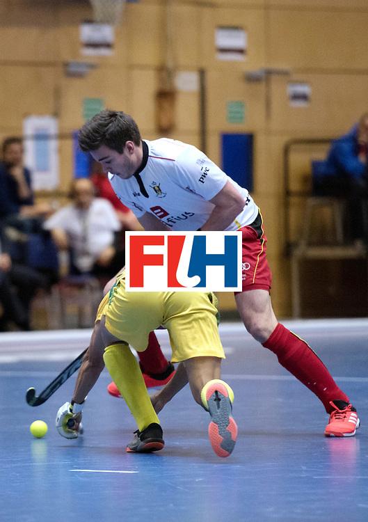 BERLIN - Indoor Hockey World Cup<br /> South Africa - Belgium<br /> foto: Gilles Jacob<br /> WORLDSPORTPICS COPYRIGHT FRANK UIJLENBROEK