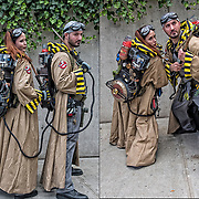 Cosplay attendees in their costumes deviated from typical cosplay characters into hybrid creations all their own, from &quot;Dementor Busters&quot;  (Ghostbusters, but for the wraiths of Harry Potter).<br />