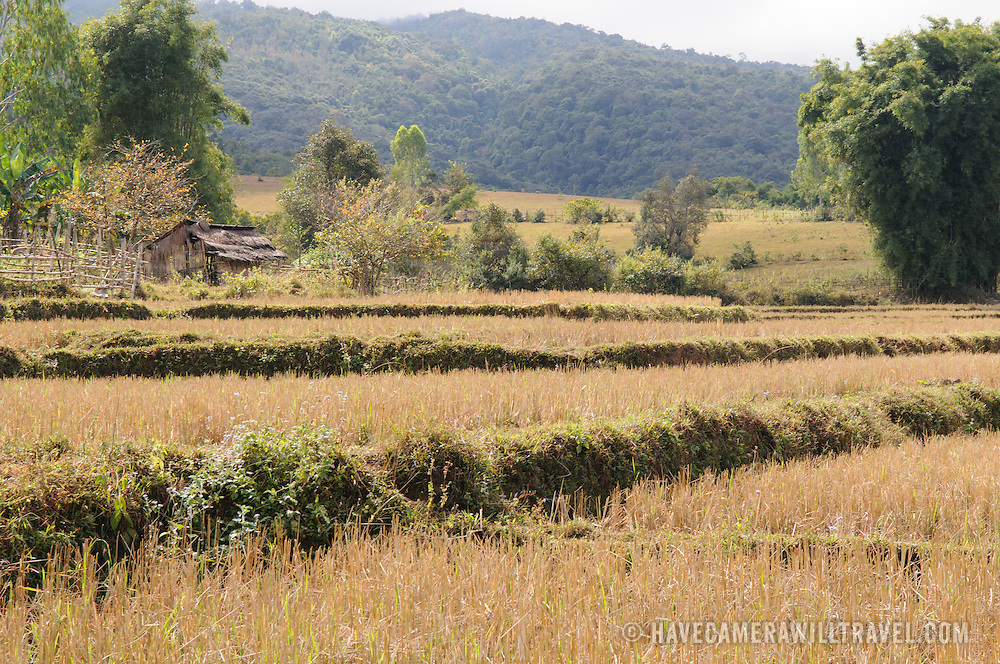 A farm on the way to Site 3 of the Plain of Jars in Laos.