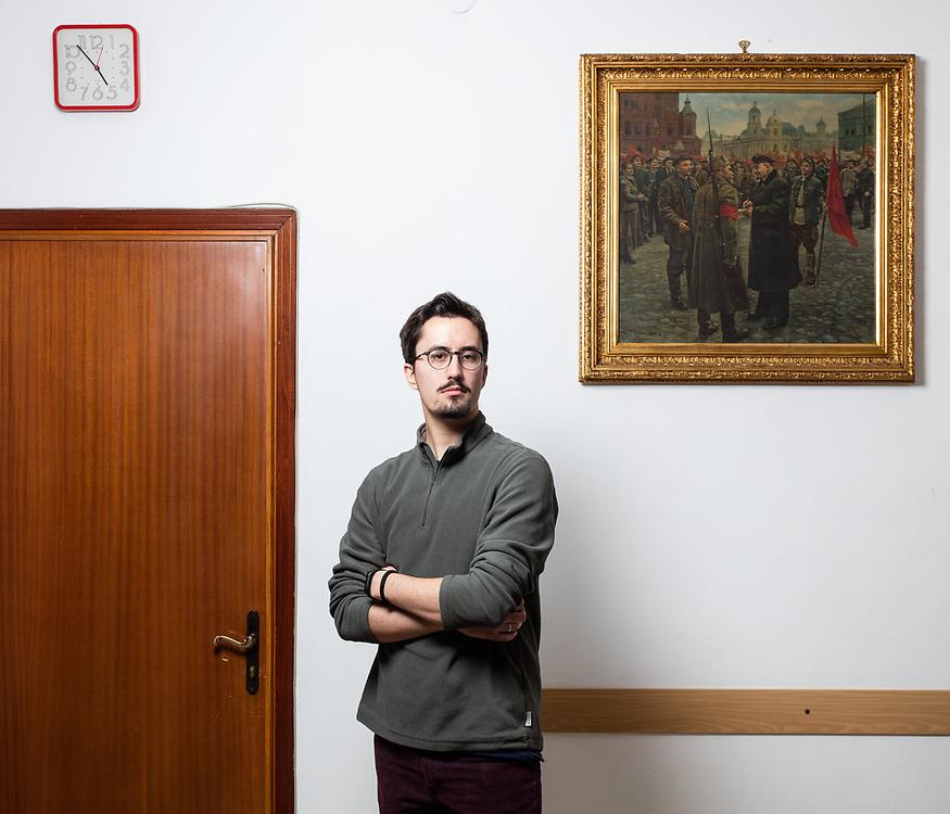 """Daniele Baldo. Circolo culturale e sede di Liberi e Uguali """"Aurora"""", Collegno, TO."""