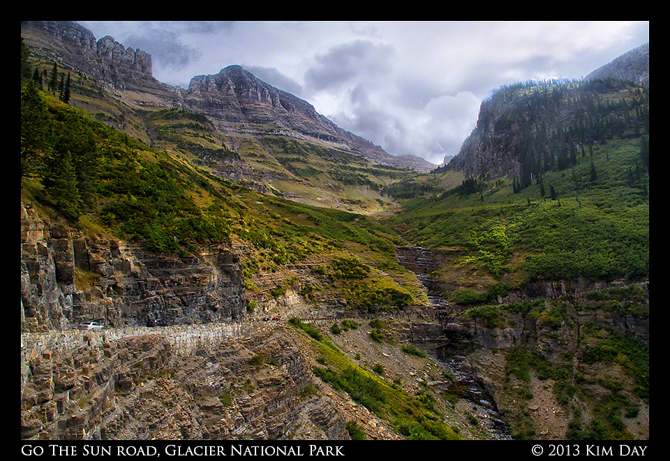 Cars On Go The Sun Road<br /> Glacier National Park<br /> September 2013
