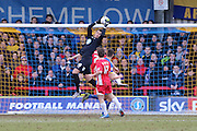Kelle Roos Goalkeeper for AFC Wimbledon (29) in action during the Sky Bet League 2 match between AFC Wimbledon and Accrington Stanley at the Cherry Red Records Stadium, Kingston, England on 5 March 2016. Photo by Stuart Butcher.
