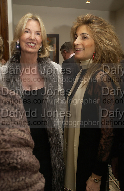 Hillary Weston and Maryam Sachs. Olga Polizzi and Rocco Forte host a party to celebrate the re-opening of Brown's Hotel  after a  £19 million renovation. Albermarle St. London. 12 December 2005. ONE TIME USE ONLY - DO NOT ARCHIVE  © Copyright Photograph by Dafydd Jones 66 Stockwell Park Rd. London SW9 0DA Tel 020 7733 0108 www.dafjones.com
