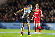 Joe Marchant, Centre (Harlequins) during the Gallagher Premiership Rugby match between Harlequins and Saracens at Twickenham Stoop, Twickenham, United Kingdom on 6 October 2018.
