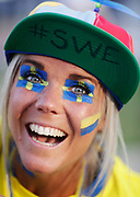 LUBLIN, POLAND - 2017-06-22: Svenska fans under UEFA U21 matchen mellan Slovakien och Sverige p&aring;  Arena Lublin den 22 juni, 2017 i Lublin, Polen. <br /> Foto: Nils Petter Nilsson/Ombrello<br /> Fri anv&auml;ndning f&ouml;r kunder som k&ouml;pt U21-paketet.<br /> Annars Betalbild.<br /> ***BETALBILD***