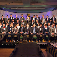 The Full Panel of the last 3 years for U21 Finalists on stage at the Clare U21 Hurling Final Winners Medal presentation in the West County Hotel on Saturday 06 Dec