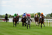 Valentine Mist ridden by John Fahy and trained by James Grassick in the Sky Sports Racing Sky 415 Fillies' Handicap (Class 5) race. Trelinney ridden by Martin Dwyer and trained by Marcus Tregoning in the Sky Sports Racing Sky 415 Fillies' Handicap (Class 5) race. Brockagh Cailin ridden by Trveor Whelan and trained by J S Moore in the Sky Sports Racing Sky 415 Fillies' Handicap (Class 5) race. Couldn't Could She ridden by Jimmy Quinn and trained by Adam West in the Sky Sports Racing Sky 415 Fillies' Handicap (Class 5) race. Princess Way ridden by Rhiain Ingram and trained by Paul George in the Sky Sports Racing Sky 415 Fillies' Handicap (Class 5) race. Ramatuelle ridden by Luke Morris and trained by Sir Mark Prescott Bt in the Sky Sports Racing Sky 415 Fillies' Handicap (Class 5) race. Perfect Grace ridden by Holie Doyle and trained by Archie Watson in the Sky Sports Racing Sky 415 Fillies' Handicap (Class 5) race. - Ryan Hiscott/JMP - 07/08/2019 - PR - Bath Racecourse - Bath, England - Race Meeting at Bath Racecourse