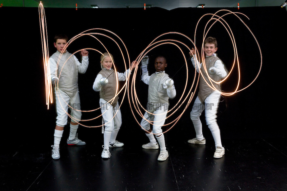 Newham Swords fencing club celebrate 1000 days to go to the start of the London2012 Olympic Games.