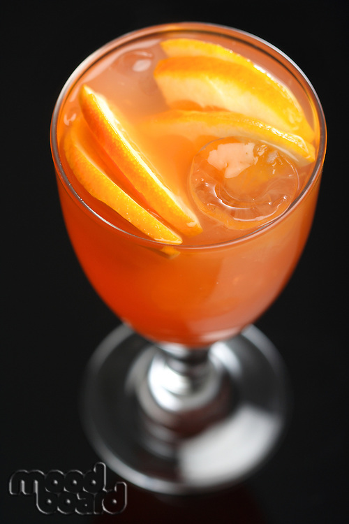 Studio shot of orange drink