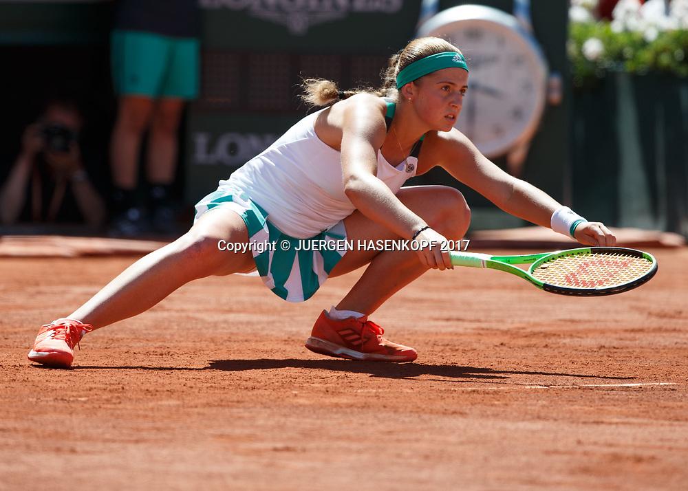JELENA OSTAPENKO (LAT)<br /> <br /> Tennis - French Open 2017 - Grand Slam / ATP / WTA / ITF -  Roland Garros - Paris -  - France  - 10 June 2017.
