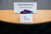 Executives of One Technologies visit Yahoo! Inc. for a special event at Yahoo! Inc. in Sunnyvale, California, on August 14, 2013. (Stan Olszewski/SOSKIphoto)