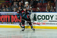 KELOWNA, CANADA - DECEMBER 1: Erik Gardiner #11 of the Kelowna Rockets skates against the Saskatoon Blades  on December 1, 2018 at Prospera Place in Kelowna, British Columbia, Canada.  (Photo by Marissa Baecker/Shoot the Breeze)