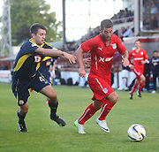 Dundee's Peter MacDonald and Brechin's Paul McLean - Brechin City v Dundee, pre-season friendly at Dens Park<br /> <br />  - &copy; David Young - www.davidyoungphoto.co.uk - email: davidyoungphoto@gmail.com