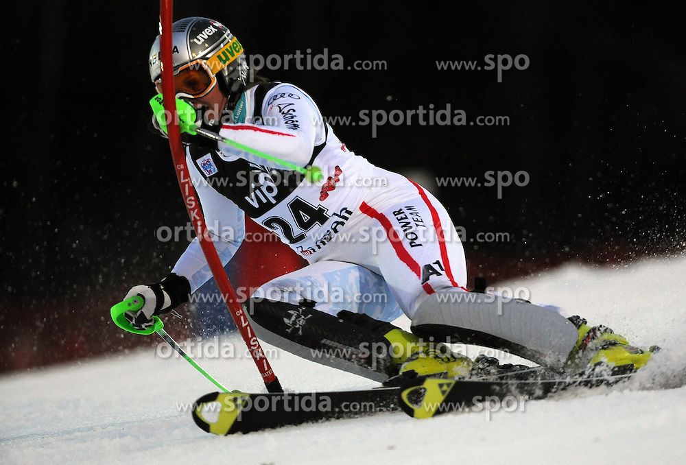 04.01.2013, Crveni Spust, Zagreb, AUT, FIS Ski Alpin Weltcup, Slalom, Damen, 1. Lauf, im Bild Nicole Hosp (AUT) // Nicole Hosp of Austria  in action during 1st Run of the ladies Slalom of the FIS ski alpine world cup at Crveni Spust course in Zagreb, Croatia on 2013/01/04. EXPA Pictures © 2013, PhotoCredit: EXPA/ Erich Spiess