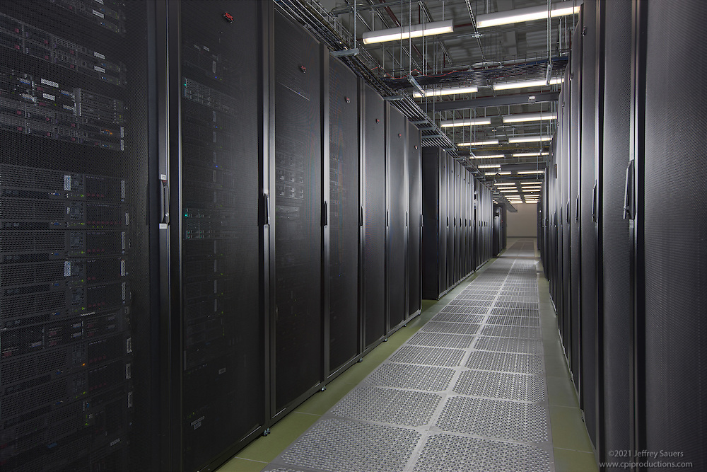 Interior image of main server area in DC6 Data Center in Manassa VA