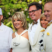 Nancy Coffey and F. Timothy Nagler pose for photographs after getting married at Duckridge Farm in Portland, Ore., Saturday, June 2, 2012...The bride, 66, is a Senior Vice President with The Corcoran Group in New York.  She graduated from Stanford and received a M.S. in Engineering from Stanford. She is a daughter of Joan Moore of Montecito, Ca., and the late Arthur J. Coffey, a custom home builder and developer in Palm Springs, Ca., where she grew up...The bridegroom, 65, is the president and owner of Jungclaus-Campbell Co., Inc., an Indianapolis industrial general contractor founded in 1875.  He graduated from Carleton College and received a M.A. in English from the University of Virginia.He is the son of Ruth E. and Louis G. Nagler of Amery, Wisconsin.  His father was a lawyer, his mother a homemaker.