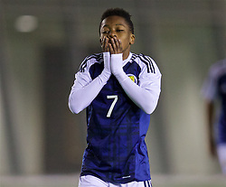 EDINBURGH, SCOTLAND - Friday, November 4, 2016: Scotland's Karamoko Dembele looks dejected as his side go 3-0 down to Republic of Ireland during the Under-16 2016 Victory Shield match at ORIAM. (Pic by David Rawcliffe/Propaganda)