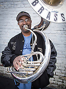 Rebirth Brass Band leader and souzaphone player Phil Frazier