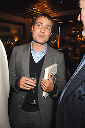 BEN GOLDSMITH at a party to celebrate the publication of Table Talk by A  A Gill held at Luciano, 72-73 St.James's, London on 22nd October 2007.<br />