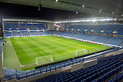 General view inside Ibrox Stadium, Glasgow, Scotland before the Europa League group stage match between Rangers FC and Villareal CF on 29 November 2018.