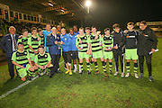 Forest Green Rovers, winners by1 goal to nil during the Glos Senior Cup Final match between Forest Green Rovers and Bishops Cleeve at the New Lawn, Forest Green, United Kingdom on 2 May 2016. Photo by Shane Healey.