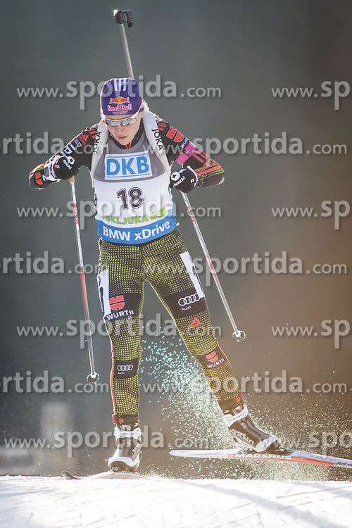 Miriam Goessner (GER) during Women 7,5 km Sprint at day 2 of IBU Biathlon World Cup 2015/16 Pokljuka, on December 18, 2015 in Rudno polje, Pokljuka, Slovenia. Photo by Ziga Zupan / Sportida