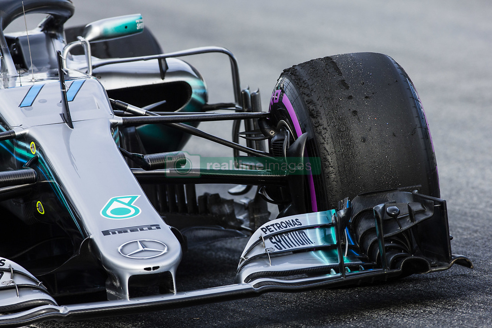 March 9, 2018 - Barcelona, Catalonia, Spain - 77 Valtteri Bottas from Finland Mercedes W09 Hybrid EQ Power+ team Mercedes GP Pirelli tyres ultrasoft compound during day four of F1 Winter Testing at Circuit de Catalunya on March 9, 2018 in Montmelo, Spain. (Credit Image: © Xavier Bonilla/NurPhoto via ZUMA Press)