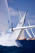 Nada, 6 Meter Class, sailing in the 2010 Antigua Classic Yacht Regatta, Windward Race, day 4.