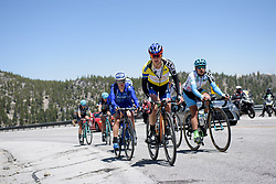 Megan Guarnier leads the second group on the road at Amgen Breakaway from Heart Disease Women's Race empowered with SRAM (Tour of California) - Stage 2. A 108km road race in South Lake Tahoe, USA on 12th May 2017.
